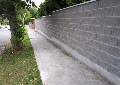 Stone block wall by Kelly bros