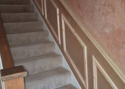 Wood panels on staircase in perrystown