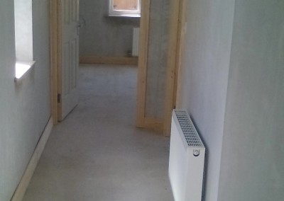 Building work including plastering to painting